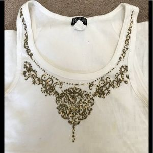 Tank Top with Gold Embellishments